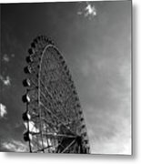 Ferris Wheel Against Sky Metal Print