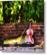 Fiddle On The Garden Wall Metal Print