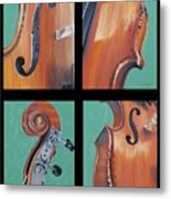 Fiddle Quartet Metal Print