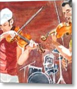 Fiddles Metal Print