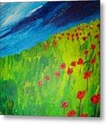 field of Poppies 2 Metal Print