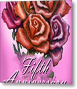 Fifth Anniversary Metal Print