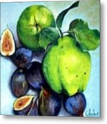 Figs And Quinces Metal Print