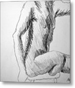 Figure Drawing 3 Metal Print