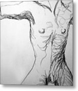 Figure Drawing 5 Metal Print