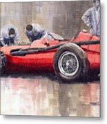 Final Check Before The Start Maserati 250 F 1957 Metal Print