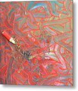Finger Painting Metal Print