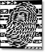 Fingerprint Scanner Maze Metal Print