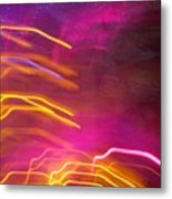 Fingers Of Light Metal Print