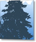Fir At Dusk Metal Print
