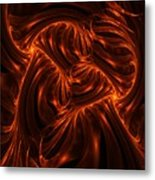 Fire Abstraction Metal Print
