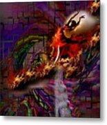 Fire Dancer-glory Realms Metal Print