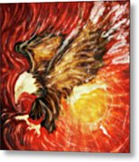 Fire Eagle Metal Print