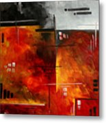 Fire Hazard Original Madart Painting Metal Print