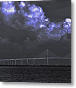 Fire In The Clouds Metal Print by William Hanus