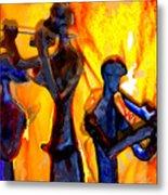 Fire Music Metal Print