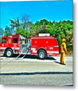 Fire On The 405 Metal Print