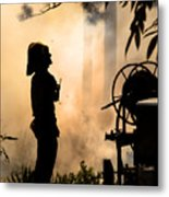Firefighter 4473 Metal Print