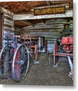 Firefighting Engine Company No. 1 - Nevada City Montana Ghost Town Metal Print