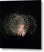 Firework Silhouettes Metal Print