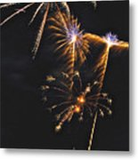 Fireworks 3 Metal Print by Michael Peychich