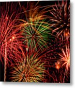 Fireworks Metal Print by Erik Watts