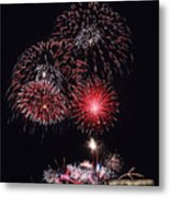 Fireworks Light Up The Night Sky Metal Print