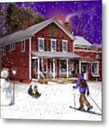 First Snow At The South Woodstock Country Store Metal Print