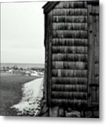 Fish House At The Sea Metal Print