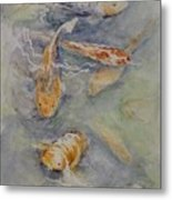 Fish Pond Metal Print