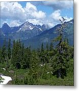 Fisher Chimney And Mt. Shuksan Metal Print