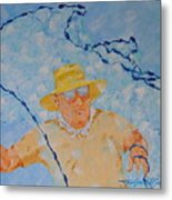 Fishermans Bait Cast Metal Print