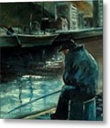 Fisherman's Patience Metal Print
