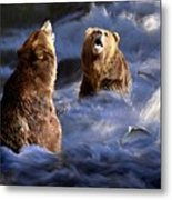 Fishing Alaska Metal Print