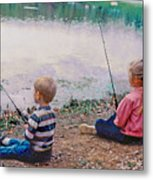 Fishing At Watkins Mill Metal Print