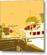 Fishing Boat At The Dock Metal Print