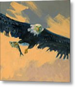 Fishing Eagle Metal Print by Donald Maier
