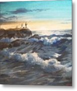 Fishing Off Point Judith R.i. Metal Print