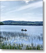 Fishing On Lake Carmi Metal Print