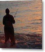 Fishing Reflections Metal Print