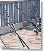 Fishing Rods Metal Print