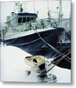 Fishing Trawler, Howth Harbour, Co Metal Print