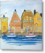 Fishing Village 3 Metal Print
