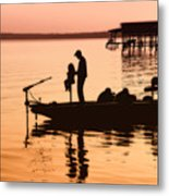 Fishing With Daddy Metal Print by Bonnie Barry