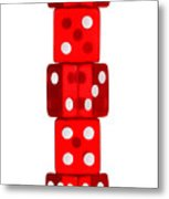 Five Dice Stack Metal Print by Richard Thomas