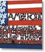 Flag One Metal Print