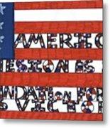 Flag Two Metal Print