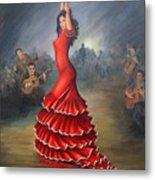 Flamenco Dancer Metal Print by Mai Griffin