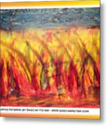 Flames Inferno On A Nice Background - Postcard Metal Print