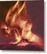 Flaming Gargoyle Metal Print
